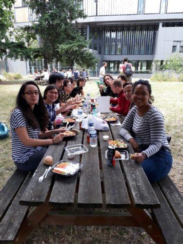 23 juin 2017 journée de travail Rythmes alimentaires en France et au Chili. Déjeuner dans le jardin de l'ENS Jourdan.