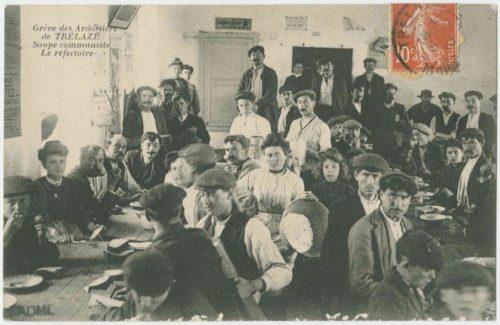photo d'une soupe communiste pour des grévistes ardoisiers