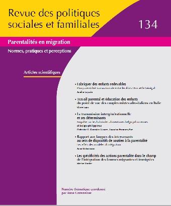 Vient de paraître : Parentalité en Migration